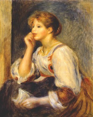 Pierre Auguste Renoir - Girl with a letter