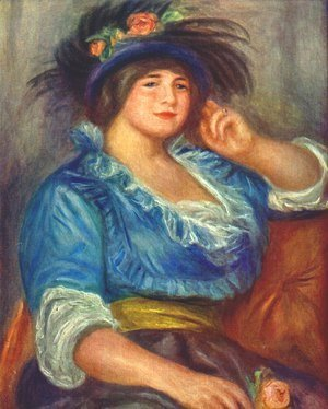 Pierre Auguste Renoir - Young woman with a rose in her hat