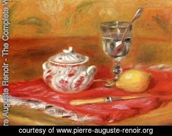 Pierre Auguste Renoir - Still LIfe with Glass and Lemon