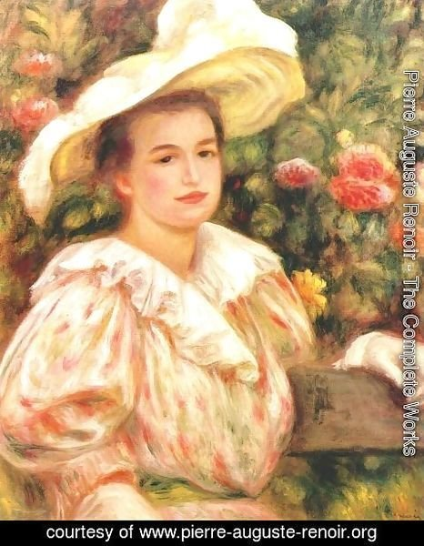 Pierre Auguste Renoir - Lady with white hat