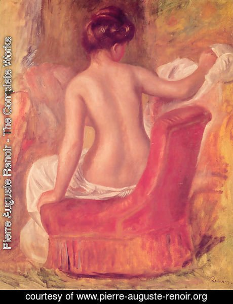 Pierre Auguste Renoir - Nude in a Chair
