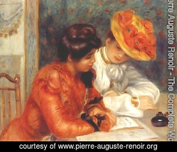 Pierre Auguste Renoir - The letter