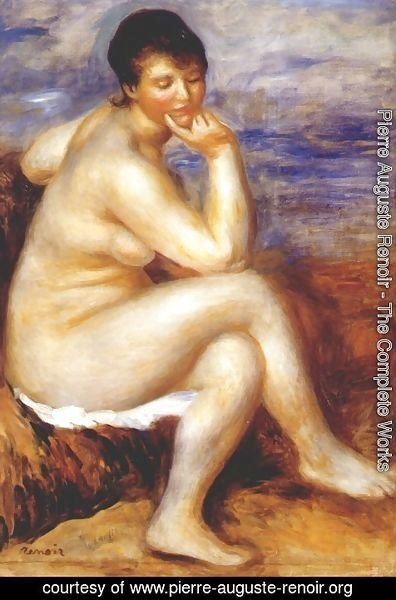 Pierre Auguste Renoir - Bather with a rock
