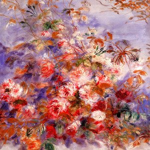 Pierre Auguste Renoir - Roses By The Window