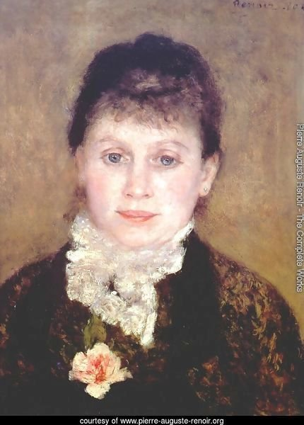 Woman with a white jabot