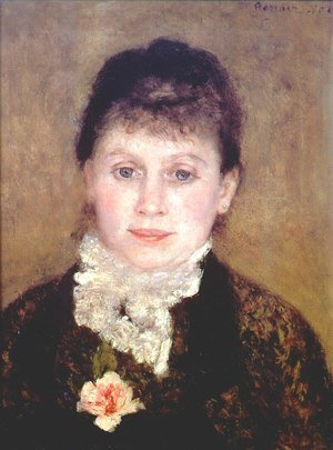 Pierre Auguste Renoir - Woman with a white jabot