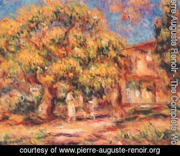 Pierre Auguste Renoir - Lime Tree and Farmhouse
