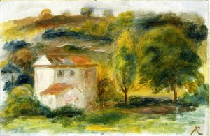 Pierre Auguste Renoir - Landscape with White House 2