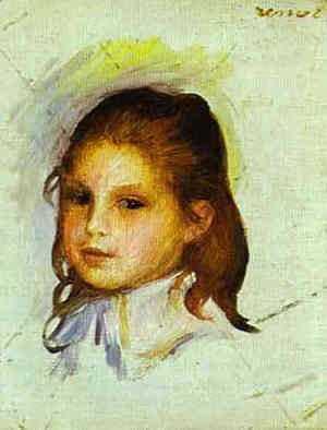 Pierre Auguste Renoir - Girl with Brown Hair