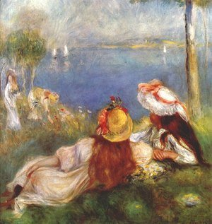 Pierre Auguste Renoir - Girls on the seashore