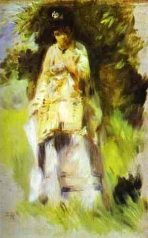 Pierre Auguste Renoir - Woman Standing by a Tree