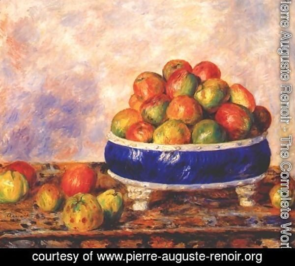 Pierre Auguste Renoir - Apples in a dish