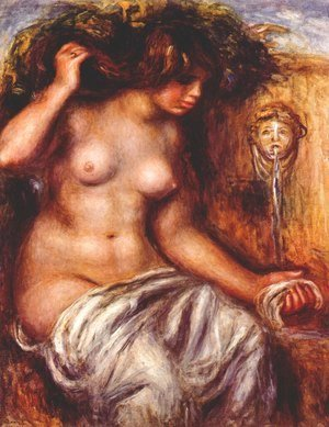 Pierre Auguste Renoir - Woman at the fountain