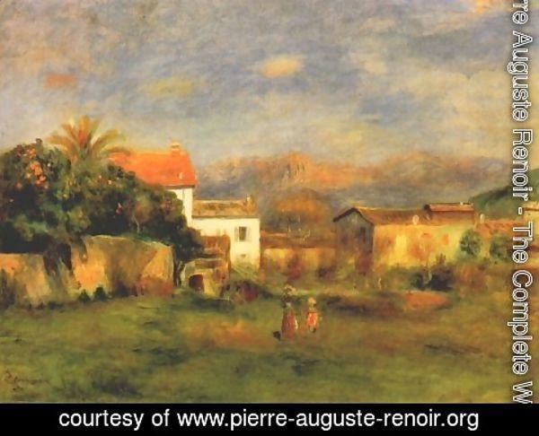 Pierre Auguste Renoir - View of cagnes