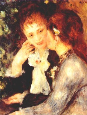 Pierre Auguste Renoir - Young women talking (confidences)