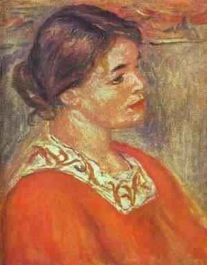 Pierre Auguste Renoir - Woman in a Red Blouse 2