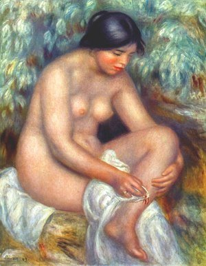 Pierre Auguste Renoir - Bather wiping a wound