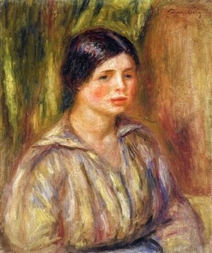 Pierre Auguste Renoir - Bust of a Young Woman 2