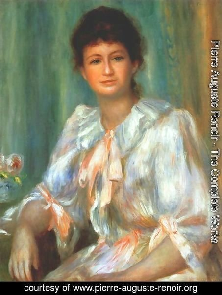 Pierre Auguste Renoir - Portrait of a young woman in white