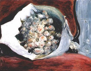 Pierre Auguste Renoir - Bouquet in a theater box