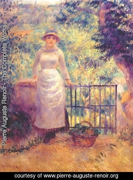 Pierre Auguste Renoir - Aline at the gate (girl in the garden)