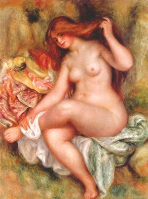 Pierre Auguste Renoir - A Seating Bather