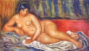 Nude girl reclining