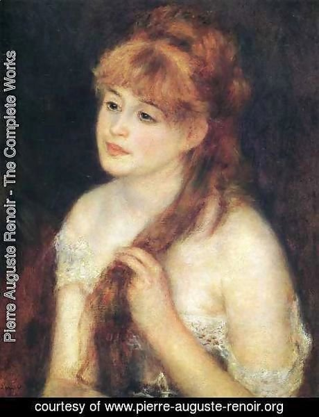 Pierre Auguste Renoir - Young Woman Braiding Her Hair