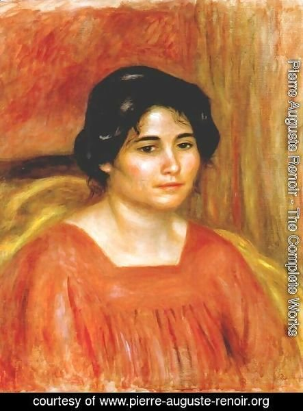 Pierre Auguste Renoir - Gabrielle in a red blouse 2