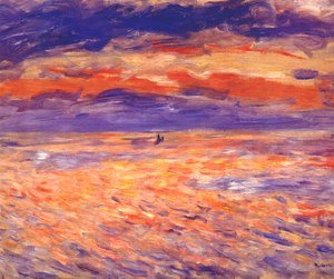 Pierre Auguste Renoir - Sunset at sea