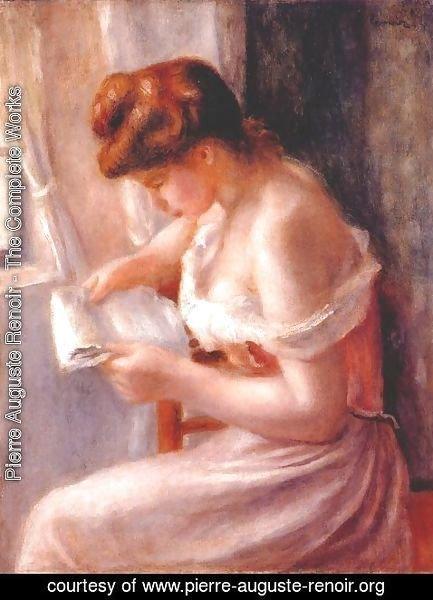 Pierre Auguste Renoir - A girl reading