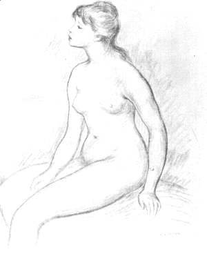 Pierre Auguste Renoir - Female Nude Seated