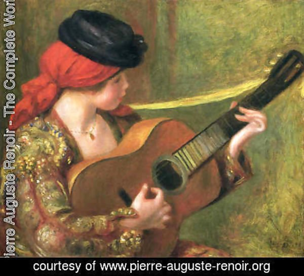 Pierre Auguste Renoir - Young Spanish Woman with a Guitar