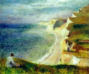Pierre Auguste Renoir - Cliffs on the Coast Near Pourville