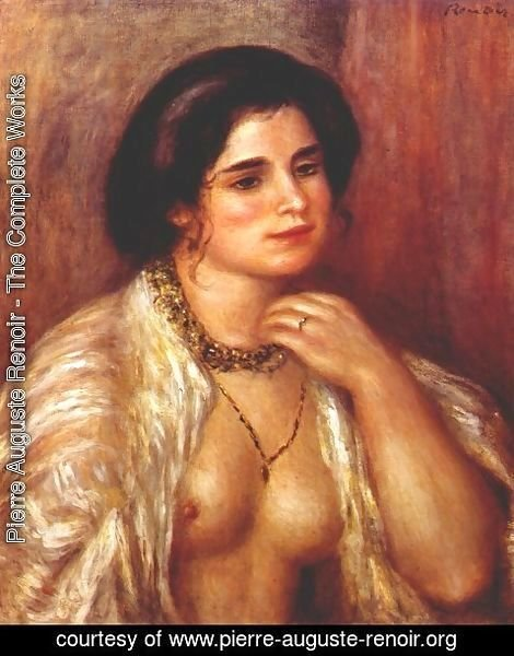 Pierre Auguste Renoir - Gabrielle with bare breasts