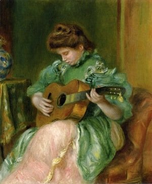 Pierre Auguste Renoir - Woman with a Guitar 2