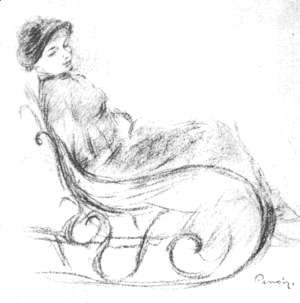 Pierre Auguste Renoir - Woman in a Rocking Chair
