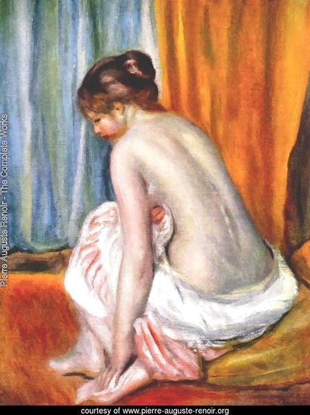 Back view of a bather