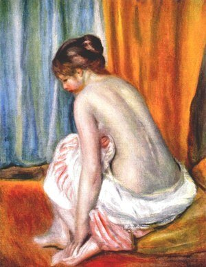 Pierre Auguste Renoir - Back view of a bather