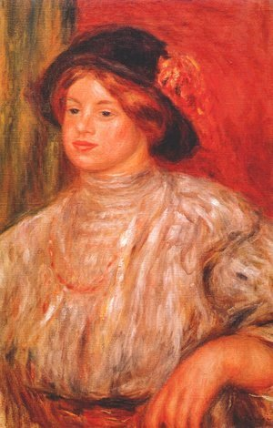 Pierre Auguste Renoir - Gabrielle with a large hat