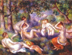 Pierre Auguste Renoir - Bathers in the forest