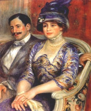 Pierre Auguste Renoir - Portrait of M. and Mme. Bernheim de Villers