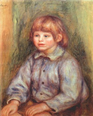 Pierre Auguste Renoir - Seated Portrait of Claude Renoir