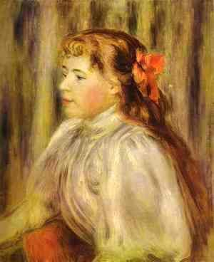 Pierre Auguste Renoir - Portrait of a Girl