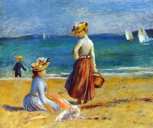 Pierre Auguste Renoir - Figures on the Beach