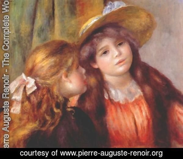 Pierre Auguste Renoir - Two girls