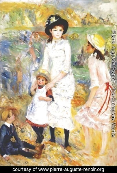 Pierre Auguste Renoir - Children on the seashore