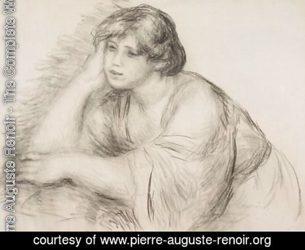 Pierre Auguste Renoir - Sitting Girl