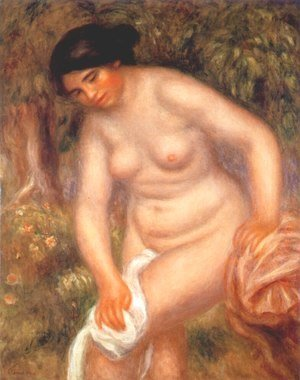 Pierre Auguste Renoir - Bather drying herself 2