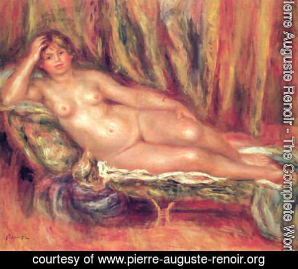 Pierre Auguste Renoir - Nude on a Couch